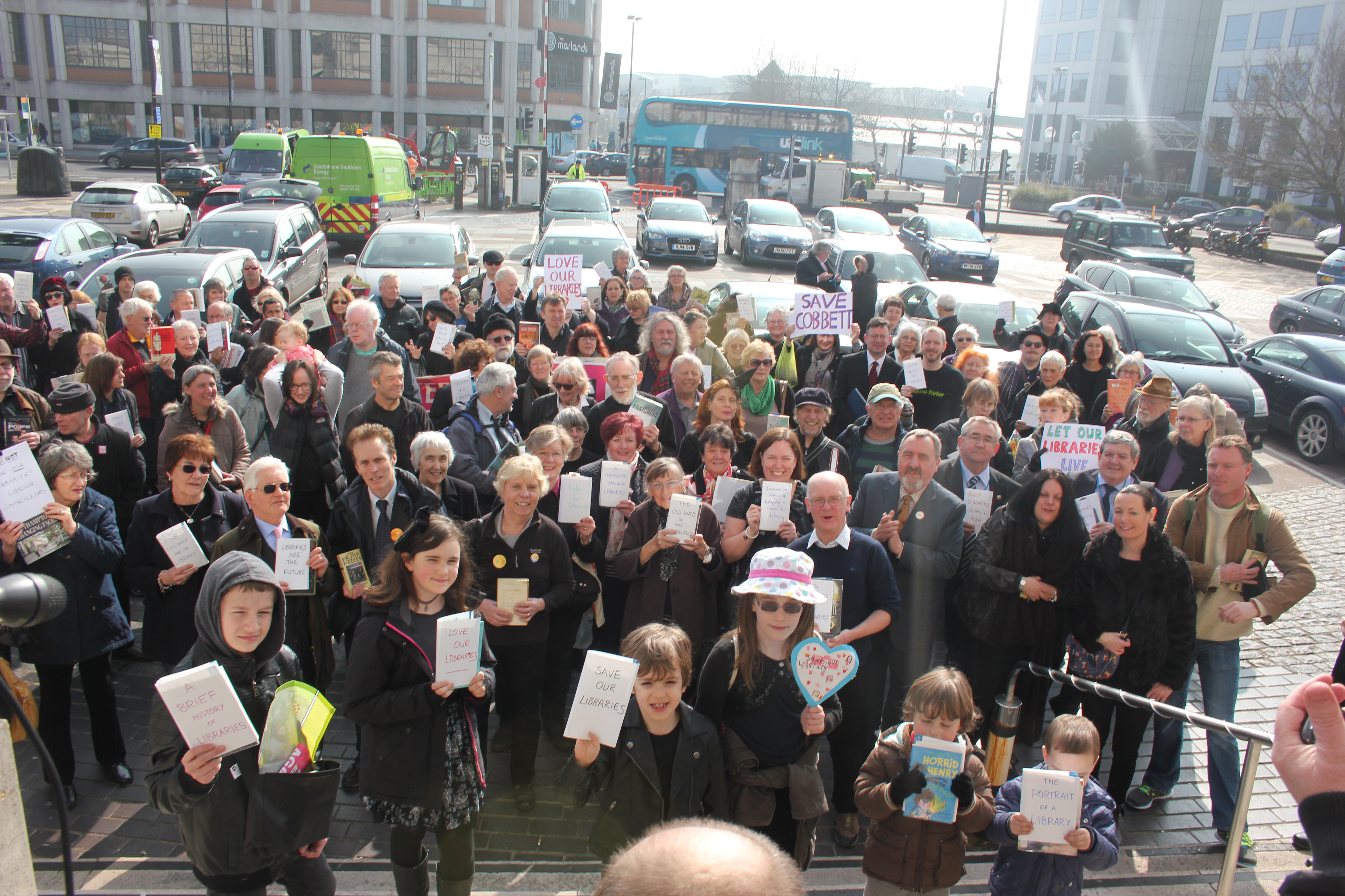 Campaigners march through Southampton to protest library closures