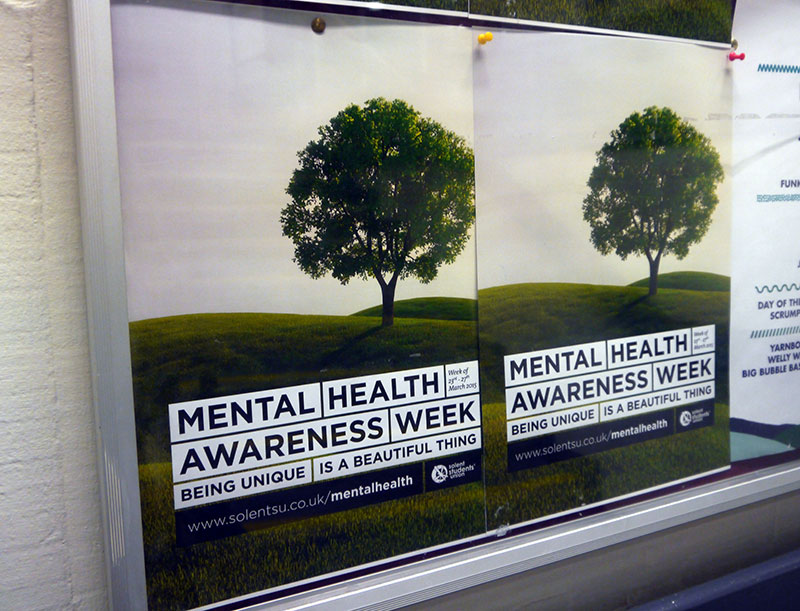 Mental Health Awareness events for Solent University SU