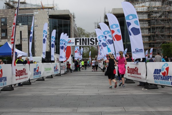 SNAP: The finish line outside Southampton's Guildhall.