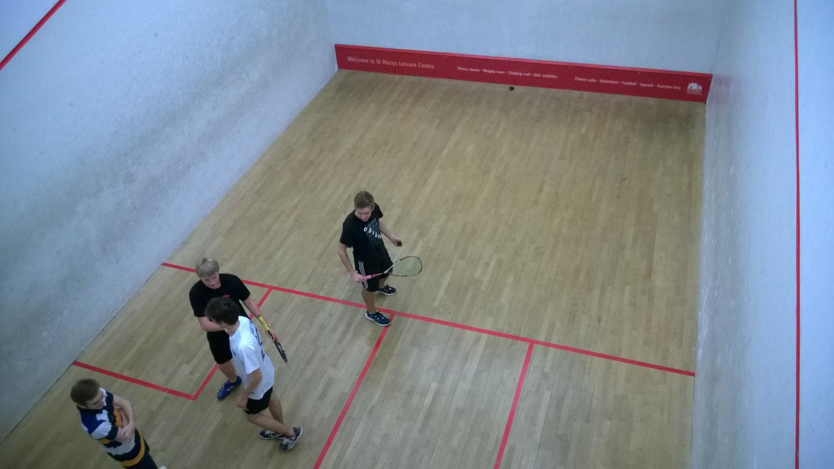 Solent squash team saved by trio of senior members