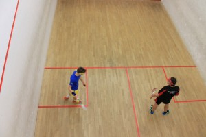 Callum Greasley, (left) competing at the Solent Sports Hall.