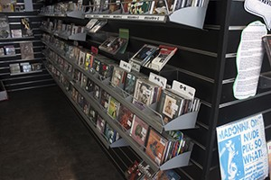 Donated CD's for customers to buy and listen to.