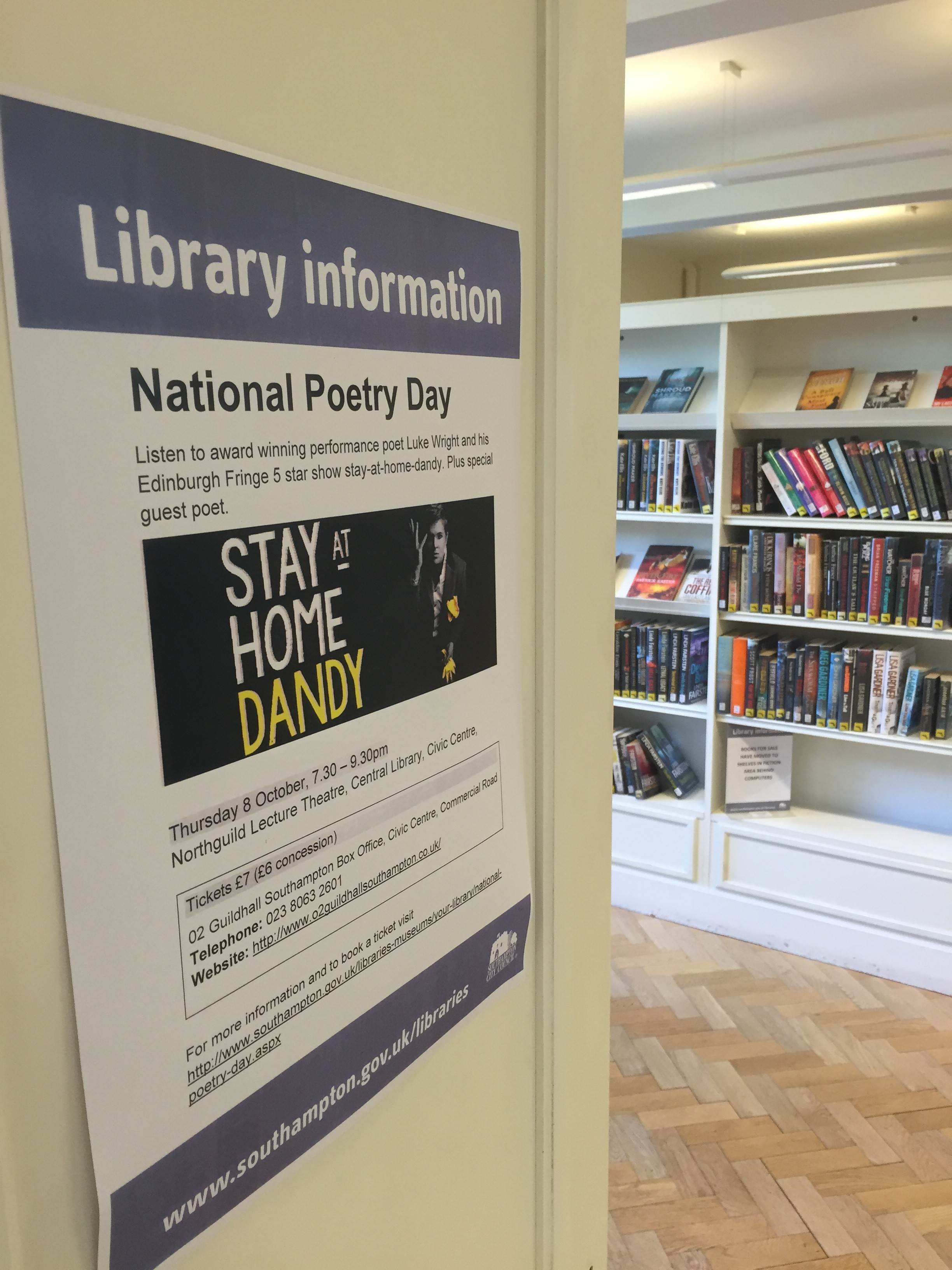 'Light' comes to Southampton for National Poetry Day