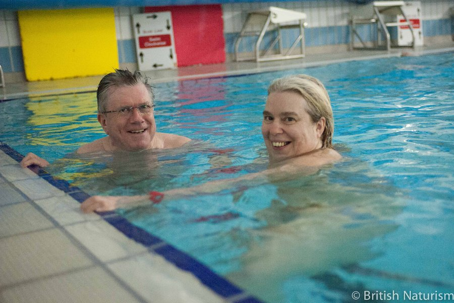 Oaklands Pool hosts a nude swim in Southampton