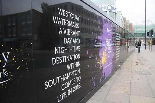 Construction is underway around West Quay for the Watermark development