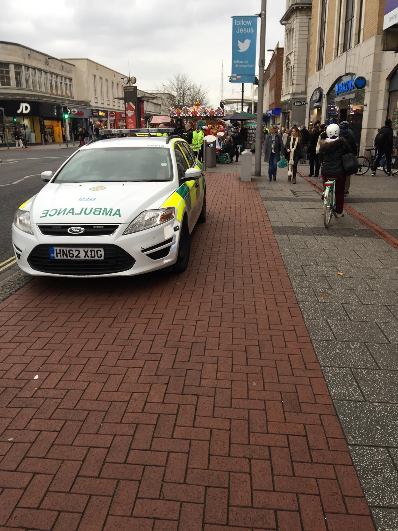 Bus hits man in Southampton