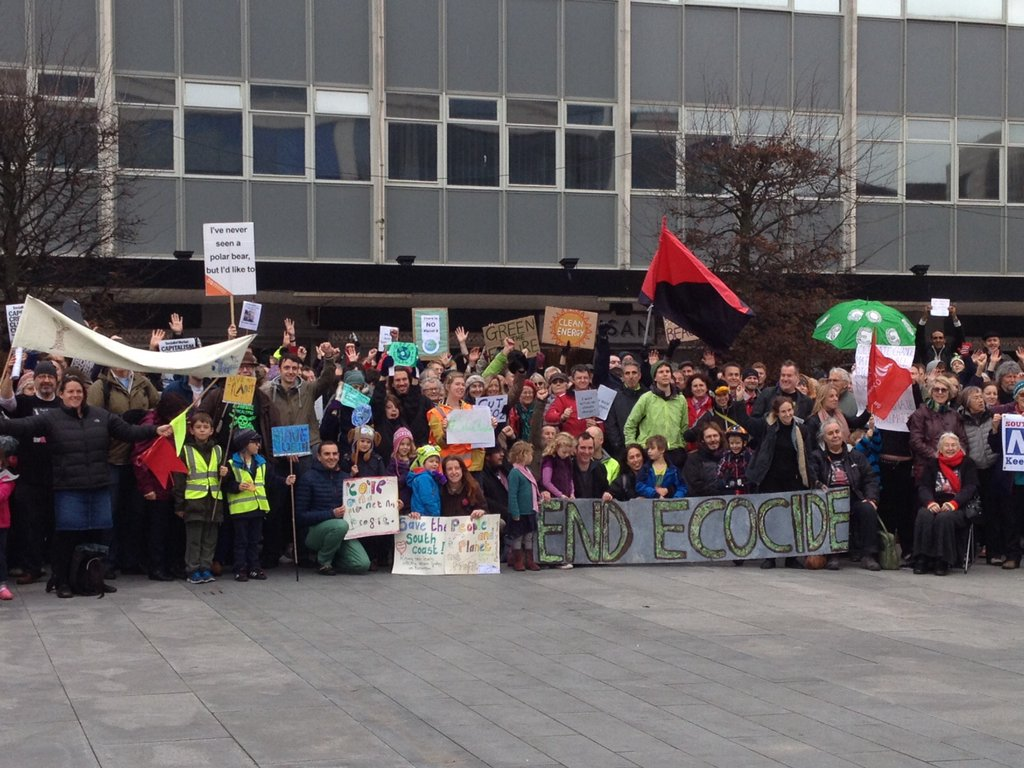 Southampton protestors rally against climate change