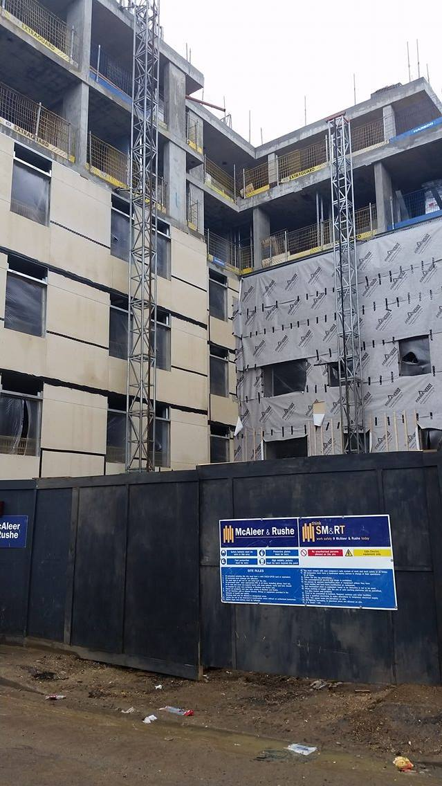 New halls of residence in construction for Solent students