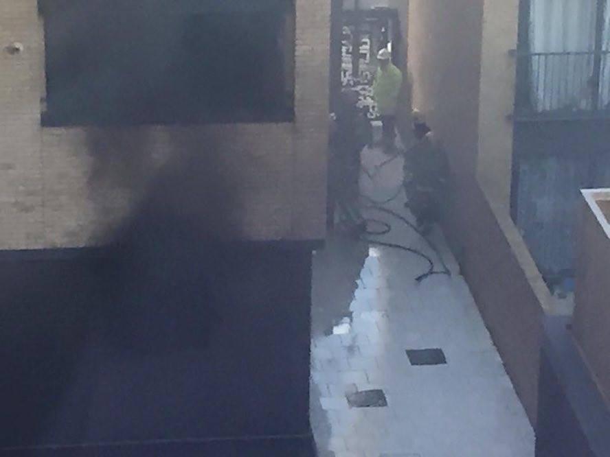 Motorbike fire at Charlotte's Wharf