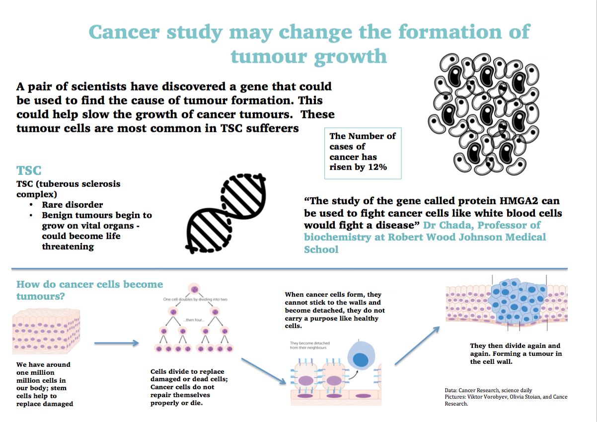 Cancer study could prevent the growth of tumours