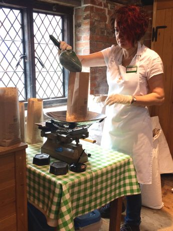 Seasonal baking demonstration at Winchester's working mill