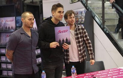 Busted sign new album 'Night Driver' at Southampton's HMV