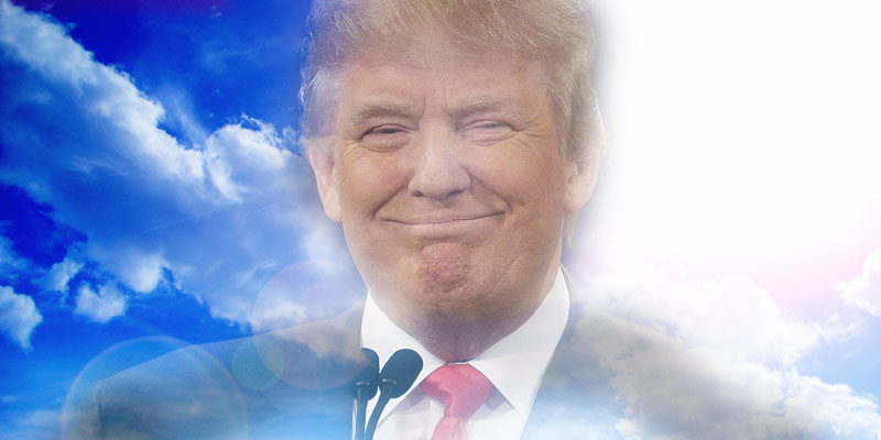Donald Trump, The Tanned and Orange Light of Salvation