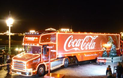 Iconic Coca Cola Truck Stops in Southampton on 'UK Tour'