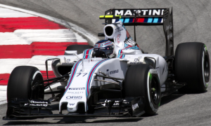 Bottas in action for Williams last season