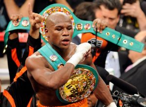 Mayweather post match victory against Miguel Cotto Via: @FloydMayweather