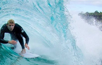 Surf champ back after a tussle with a great white