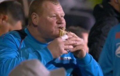 Pie-eating sensation returns home