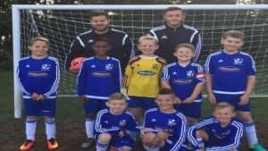 Jake Chamberlain (left) with Conor Edwards (right) with their Bursledon Youth U10's side. Image Via: Joe Griffiths