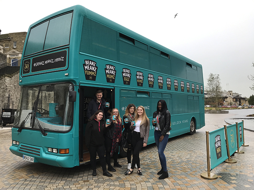 The bus stopped in Southampton as part of its tour.