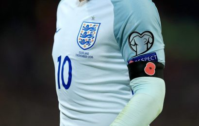 England ask for Poppy on shirts for Internationals