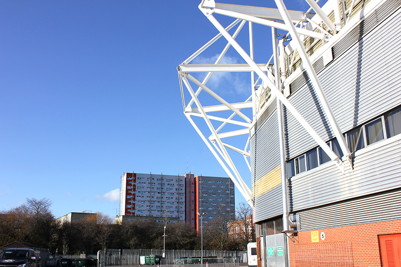 The view of Albion Towers from St Mary's