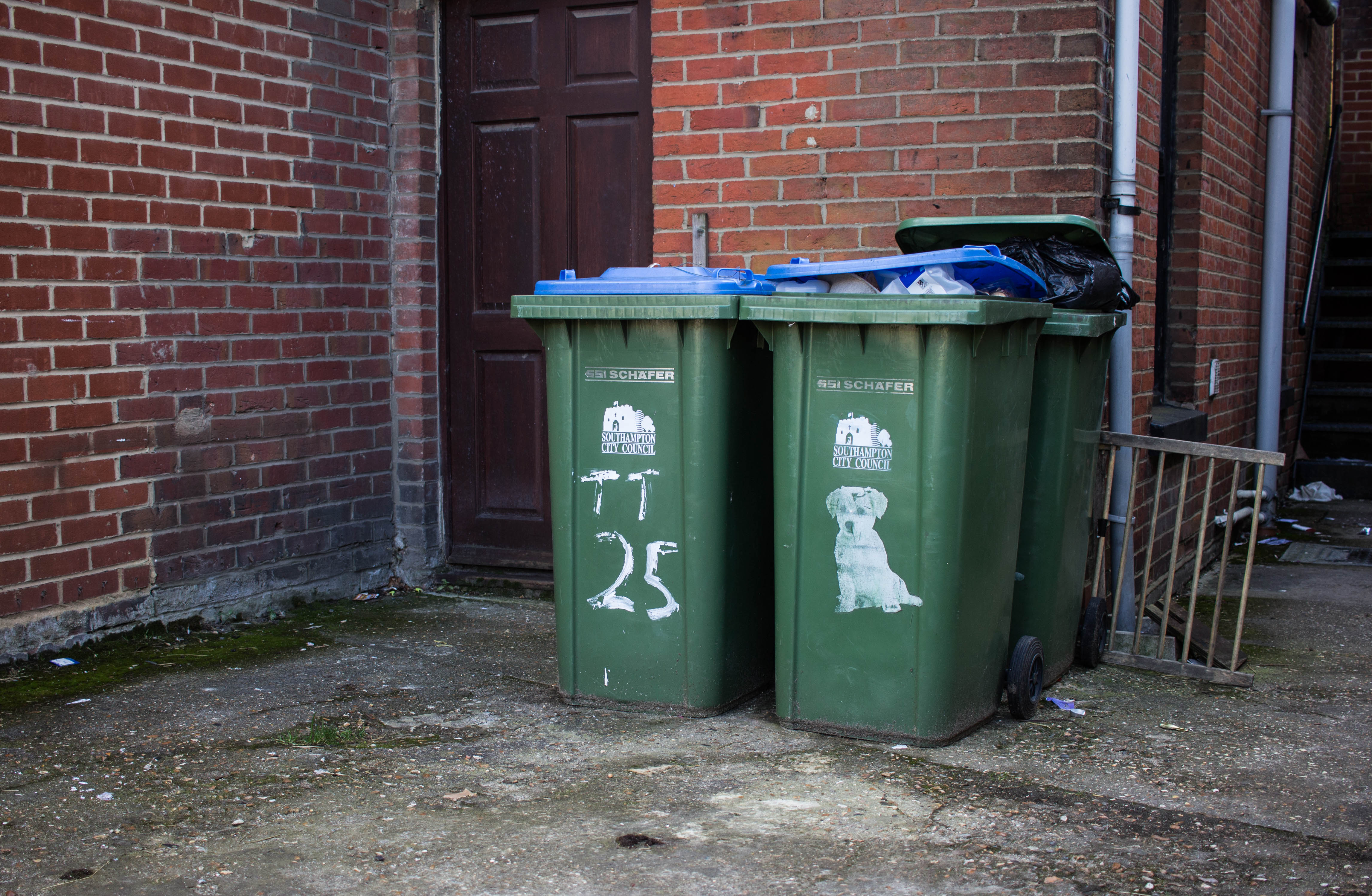 From 2015 to 2016, England saw an increase in the percentage of materials recycled.
