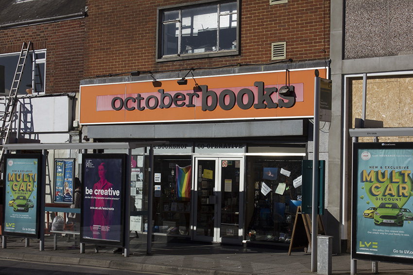 October Books current venue is in Portswood.