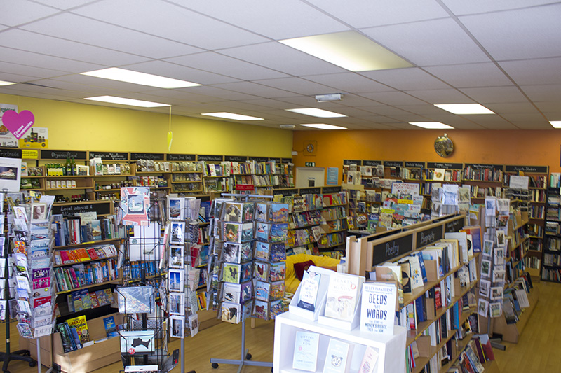 The store sells new books from around the world as a not-for-profit business.
