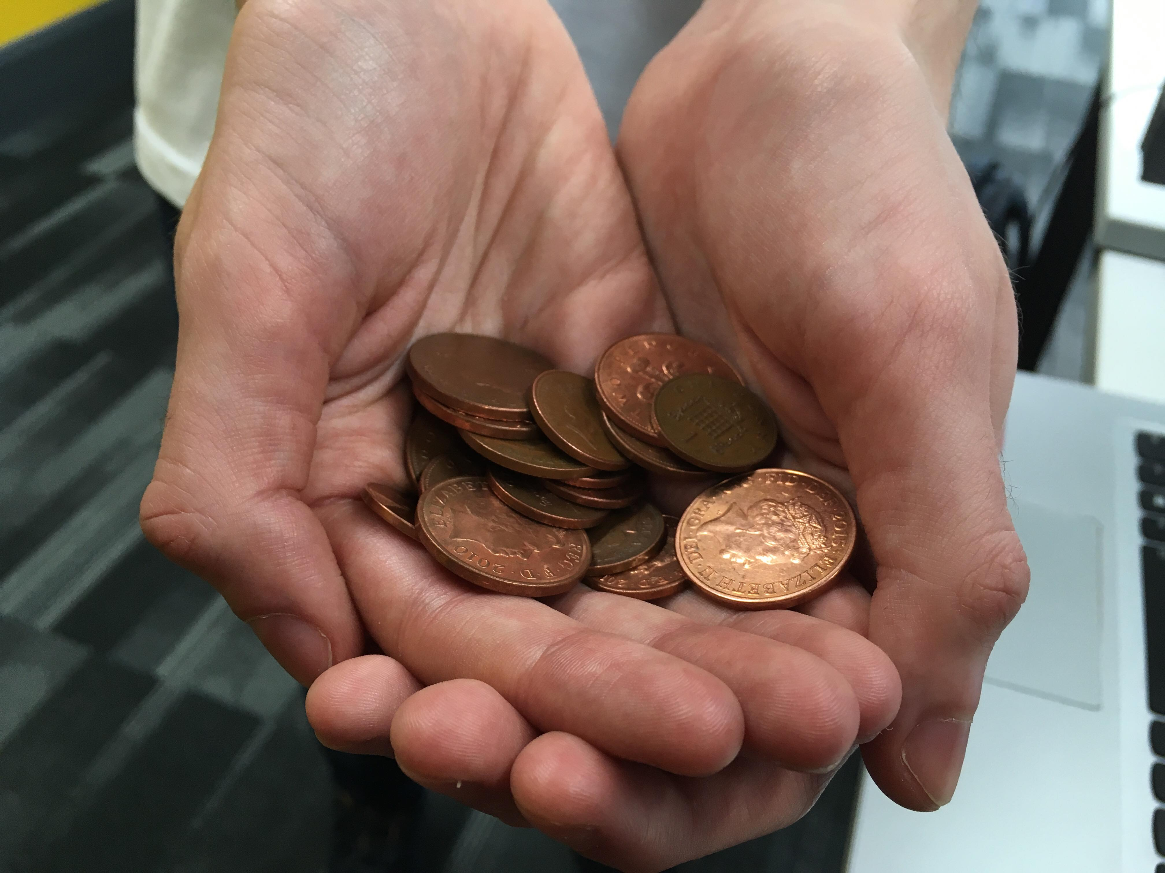 The government could be scrapping the 1 and 2 pence pieces