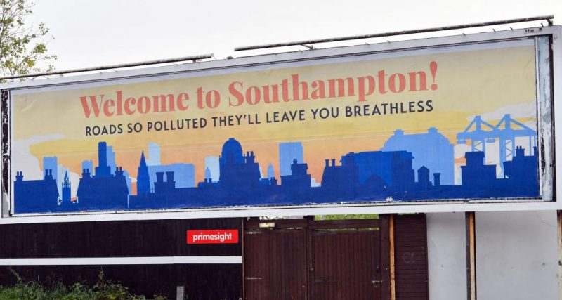 Southampton's pollution levels are consistently ranked the highest in the UK, with cars contributing 18%