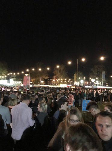 Tremendous queues. Credit Hannah Watkins.