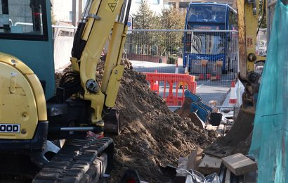Road works cause delay in Southampton