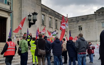Angry protesters meet at Civic Centre