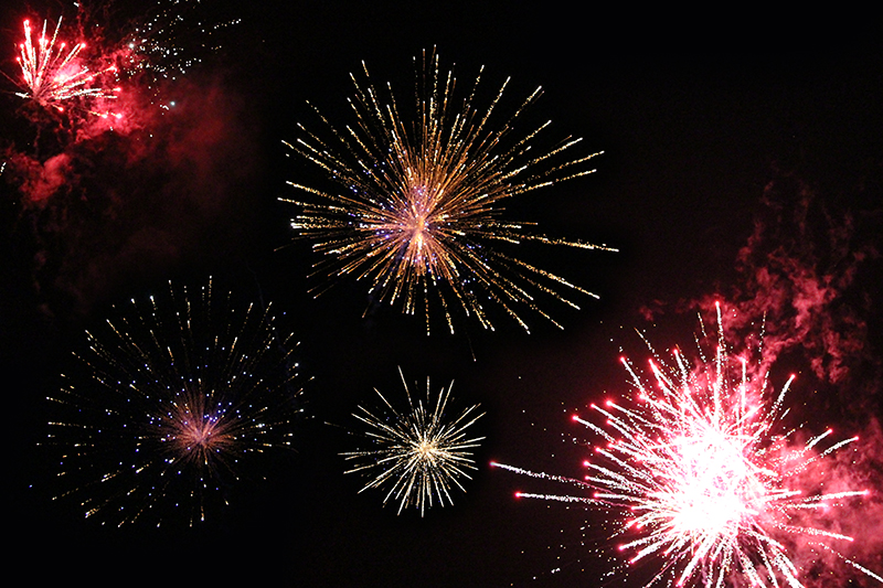 (Firework display is a part of Diwali festival celebration – picture taken during Diwali festival in Southampton near Redcliffe Road)