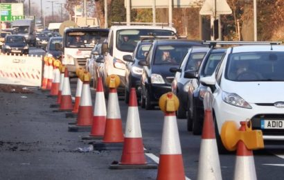 Traffic continues at Millbrook Roundabout