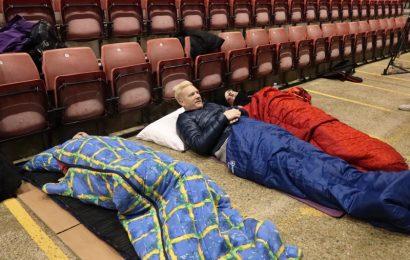 St Mary's Stadium hosts a sleep out