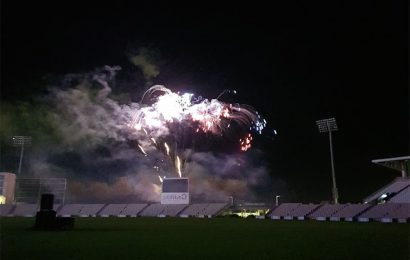 Ageas Bowl fireworks display lights up Hampshire sky