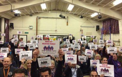 School closure following funding cuts